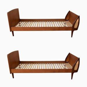 Dänische Mid-Century Teakholz Tagesbetten von Sigfred Oman für Ølholm, 1960er, 2er Set