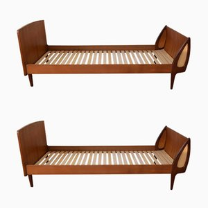 Mid-Century Danish Teak Daybeds by Sigfred Oman for Ølholm, 1960s, Set of 2
