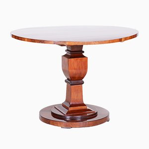 Biedermeier Austrian Round Walnut Folding Dining Table