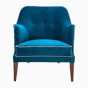 Blue Wingback Armchair