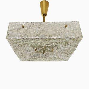 Lámpara de araña austriaca de cristal de hielo de JT Kalmar para Franken KG, años 50