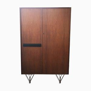 Mid-Century Cabinet with 2 Teak Doors & Interior Shelves