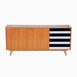 Mid-Century Oak Sideboard with Drawers by Jiří Jiroutek for Interier Praha, 1950s