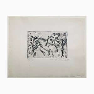 Kutschpferde 1917 Etching by Lovis Corinth, 1917