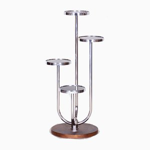 Bauhaus Chrome Flower Shelf by Jindřich Halabala for UP Závody, 1930s