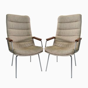 Armchairs with High Backrests by Geoffrey Harcourt for Artifort, 1974, Set of 2
