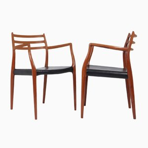 Mid-Century Model 62 Dining Chairs from J.L. Møllers, 1960s, Set of 2