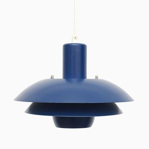 Danish Blue Ceiling Lamp from Belux, 1970s