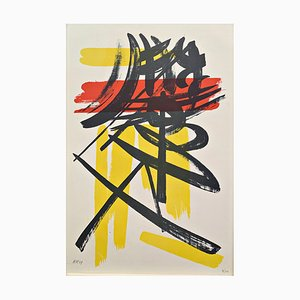 L06 Lithography by Hans Hartung, 1949