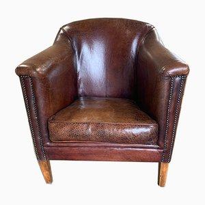 Dutch Leather Club Chair, 1980s