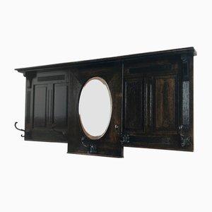 Estante Art Déco de madera oscura, años 30