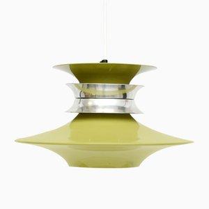 Danish Green Lysaker Ceiling Lamp, 1960s