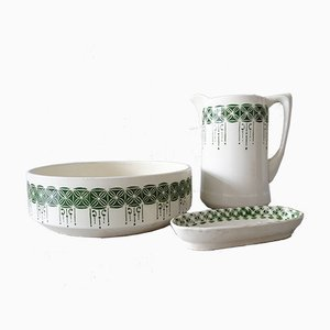 Art Deco Tableware Set, 1920s, Set of 2