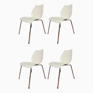 Vintage Maui Ivory Dining Chairs by Vico Magistretti for Kartell, Set of 4