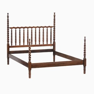 Vintage Provincial Spindle Bed