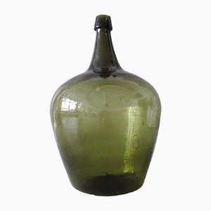 Vintage Green Glass Wine Jug