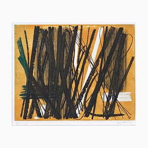 Grabado Color 5 de Hans Hartung, 1953