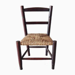 Chaise d'Enfant Antique en Bois