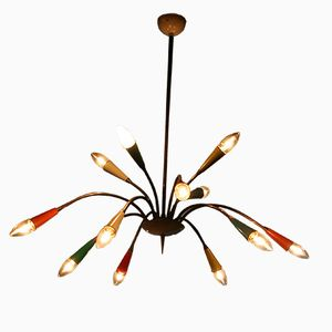 Multicolored Italian Sputnik Chandelier