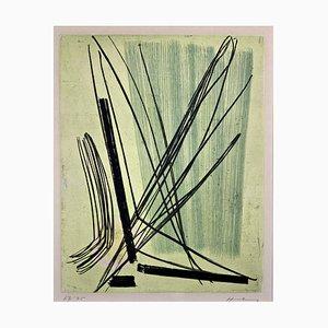 Acquaforte a colori 7 di Hans Hartung, 1953