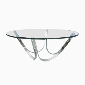 Glass Coffee Table by Werner Linder for Bacher, 1960s