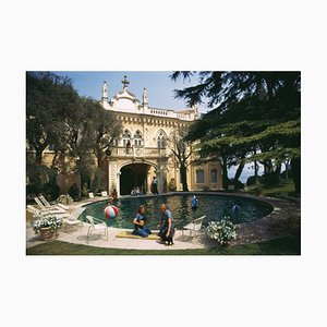 Chateau St Jean Oversize C Print Framed in Black by Slim Aarons