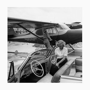 Private Transport Silver Fibre Gelatin Print Framed in Black by Slim Aarons