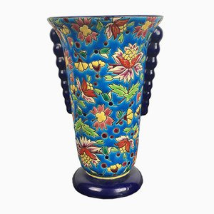 Art Deco Vase from Longwy, 1930s