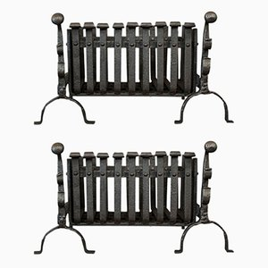Antique Cast Iron Andirons, Set of 2