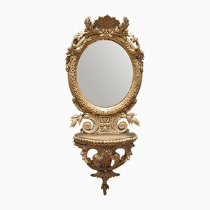 Antique Mirror French Oval Gilt Gesso Ornate Mirror