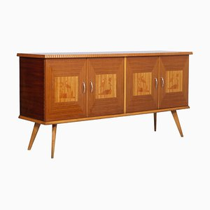 Beech, Rosewood, and Inlaid Maple Sideboard by Melchiorre Bega, 1940s