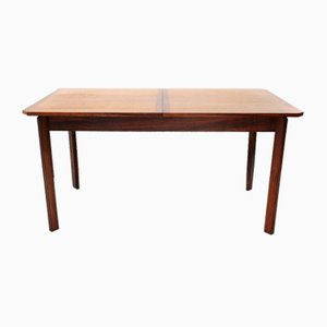 Round Wooden Extendable Dining Table, 1960s