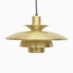 Golden Brass Ceiling Lamp from Lyskaer, 1960s