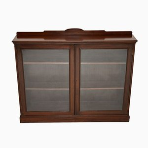 Antique Victorian Mahogany 2-Door Bookcase