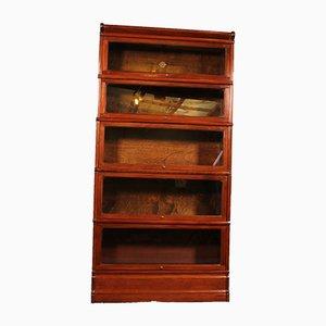 Stapelbares Englisches Bücherregal aus Mahagoni