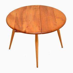 Vintage Drop Leaf Coffee Table in Elm from Ercol, 1960s