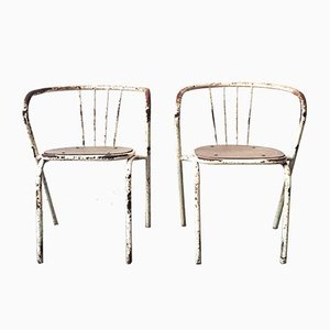 Vintage Industrial Dining Chairs, Set of 2
