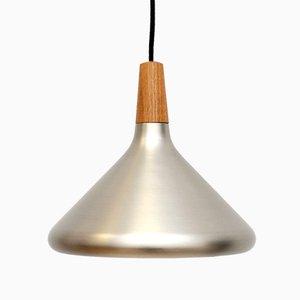 Silberne dänische Deckenlampe, 1980er