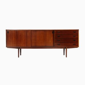 Wooden Sideboard with Drawers, 1950s