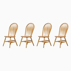 Chaises Windsor en Chêne de Stolkamnik, Yougoslavie, Set de 4