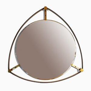 Specchio vintage con dettagli in ferro e ottone