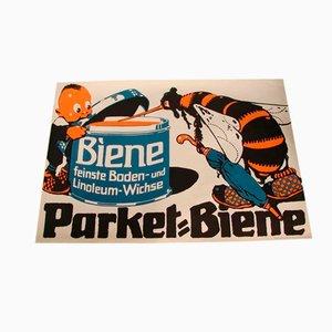 Vintage Parket Biene Werbeplakat