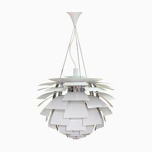 Weiße Mid-Century PH Artichoke Deckenlampe von Poul Henningsen für Louis Poulsen