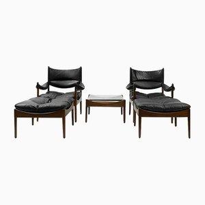 Mid-Century Rosewood Living Room Set by Kristian Vedel for Søren Willadsen Møbelfabrik, Set of 5