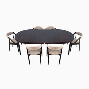 Dining Table & Chairs Set, 1960s, Set of 7