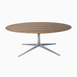 Oval Rosewood Dining Table by Florence Knoll Bassett for Knoll Inc. / Knoll International, 1960s