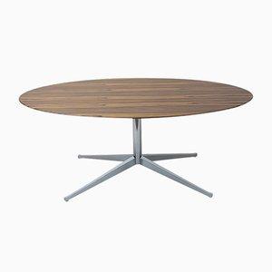 Tavolo da pranzo ovale in palissandro di Florence Knoll Bassett per Knoll Inc. / Knoll International, anni '60