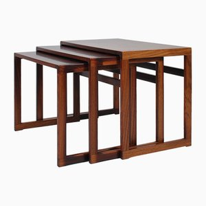 Rosewood Nesting Tables by Kai Kristiansen for Vildbjerg Møbelfabrik, 1960s, Set of 3