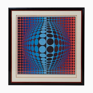 Vintage Silkscreen Print by Victor Vasarely