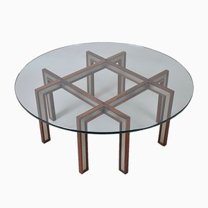 Rosewood & Steel Coffee Table by Henning Korch for CFC Silkeborg, 1960s